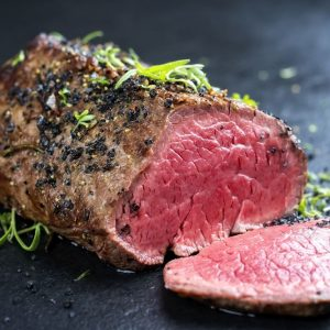 1 Rose Veal Tenderloin Fillet Steaks 225g