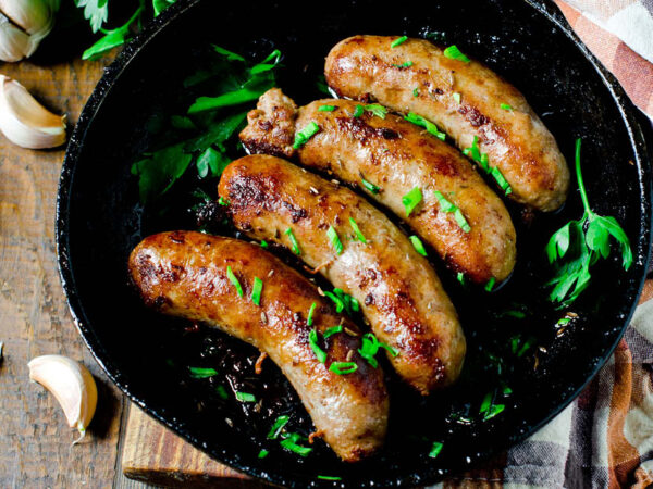 Ostrich Sausages 270g, 6 in a pack