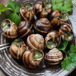 Snails in Garlic Butter 156g, 12 in a pack