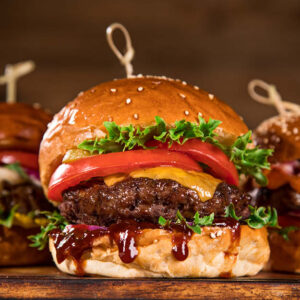 British Wagyu Beef Burgers 228g, 2 in a pack
